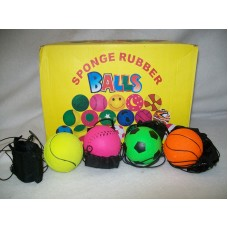 RUBBER RETURN BALL WITH STRAP