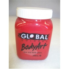 FACE AND BODY PAINT IN JAR 200ML- RED