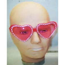 LARGE PINK HEART SHAPED GLASSES