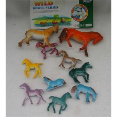 10PCS  SMALL HORSES IN BAG