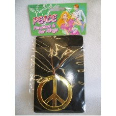 PEACE SIGN IN GOLD