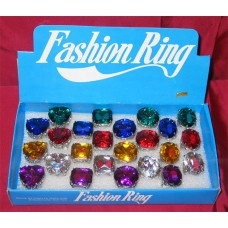 LARGE  RING WITH GEMS
