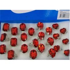 CLEARANCE SALE-GEM RED 24PCS