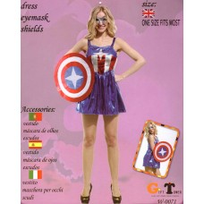 WOMAN'S COSTUME CAPTAIN AMERICA