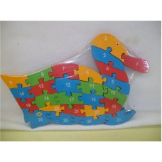 WOODEN ANIMALS PUZZLES-DUCK