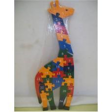 WOODEN ANIMALS PUZZLES-GIRAFFE