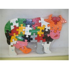 WOODEN ANIMALS PUZZLES-COW