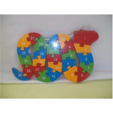 WOODEN ANIMALS PUZZLES-SNAKE